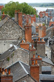 Roofs of Blois town Royalty Free Stock Image