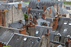 Roofs of Blois town Stock Images