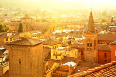 Roofs of Bologna Stock Photos