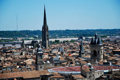 The roofs in Bordeaux stock photography