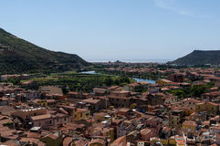 Roofs of Bosa Royalty Free Stock Images