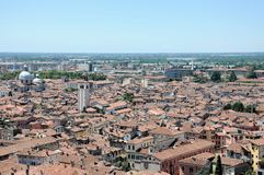 Panoramic view of Brescia, Italy Stock Photography