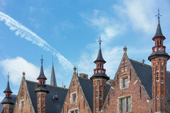 Roofs in Bruges Royalty Free Stock Photo