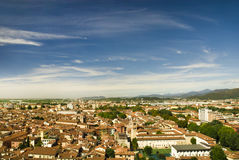 Roofs of the buildings in the city centre of Brescia Bright summer shot Stock Photography