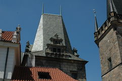 Old historical roofs of buildings in the Czech Republic Royalty Free Stock Image