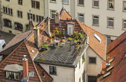Roofs of buildings in Freiburg im Breisgau, Germany Stock Photo