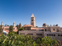 Roofs of buildings in the old part of Jerusalem, the area of the Stock Image