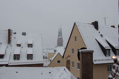 Roofs of buildings in winter time. Nuremberg. Germany. Stock Photography