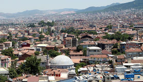 The roofs of Bursa. Stock Photo