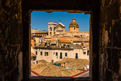 Roofs of Cagliari in Sardegna Royalty Free Stock Photos