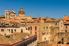 Roofs of Cagliari in Sardegna Stock Photos