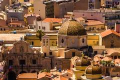 Roofs of Cagliari in Sardegna Stock Photo
