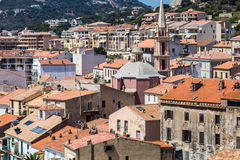 The roofs of Calvi. In Corsica, France Royalty Free Stock Photo