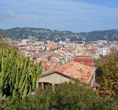 The Roofs of Cannes, Cote d`Azur, Provence France stock images