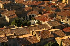 Roofs in Carcassonne Royalty Free Stock Photos