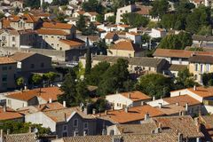 Roofs in Carcassonne Royalty Free Stock Images