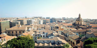Roofs of Catania - toned effect. Old buildings of central Catania. Royalty Free Stock Image