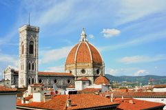 The roofs in the center of Florence city . Italy stock image