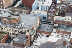 Roofs in central Liverpool Stock Images