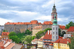 The roofs of Cesky Krumlov Royalty Free Stock Photos