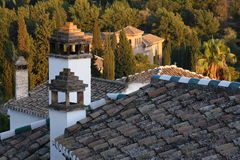 Roofs and chimneys of houses in Albayzin Stock Photo