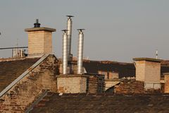 Roofs and chimneys Stock Photography