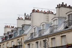 Roofs and chimneys in Paris Royalty Free Stock Images
