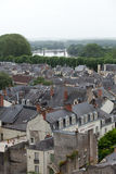 Roofs of Chinon town Stock Photos