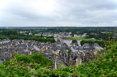Roofs of Chinon town, Stock Images