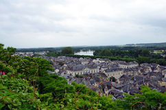 Roofs of Chinon town, Royalty Free Stock Photography