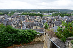 Roofs of Chinon town Royalty Free Stock Photo