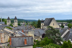 Roofs of Chinon town Stock Photography