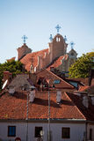 Roofs of churches and houses Royalty Free Stock Image