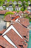 Roofs of the City. Bird's Eye View on the Roofs of the City of Berne Stock Images