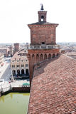 Roofs in the city of ferrara Stock Photos