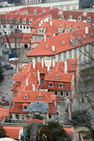 Roofs of the city of Prague Stock Photos