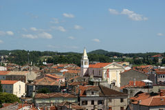 Roofs of the city on a sunny summer day, Porec, Croatia Stock Photography