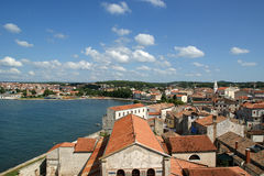 Roofs of the city on a sunny summer day, Porec, Croatia Royalty Free Stock Images