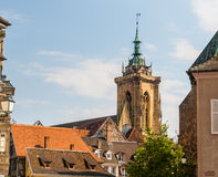 Roofs of Colmar town, Alsace, France Royalty Free Stock Images