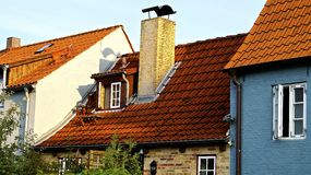Roofs. Colorful picture of Germany houses and roofs Stock Photos