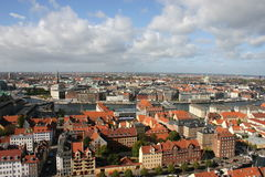 Roofs of Copenhagen, Denmark Royalty Free Stock Photos