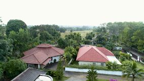 Roofs of the cottage community. stock footage