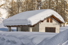 Roofs covered by snow Royalty Free Stock Photo