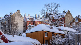 Roofs covered with snow Stock Images