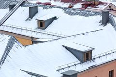 Roofs covered with snow Stock Image