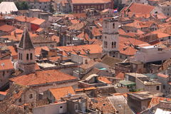 Roofs of Croatian city Royalty Free Stock Photos