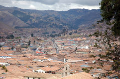 Roofs of Cuzco Royalty Free Stock Photography
