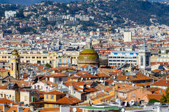 Roofs and dome of Nice central historic part, France Stock Photography