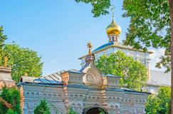 The roofs and domes of St Sergius Lavra Royalty Free Stock Photos