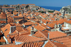 Roofs of Dubrovnik Royalty Free Stock Photos
